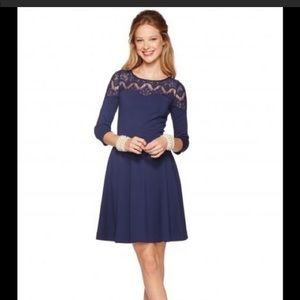 Lilly Pulitzer Remmy Lace Dress Navy